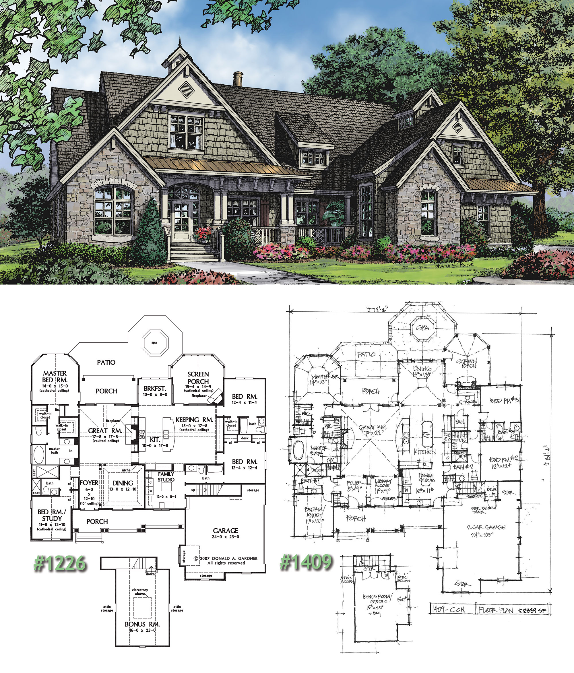 Craftsman house plan on the drawing board 1409 Craftsman homes plans