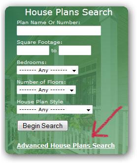 Advanced House Plan Search