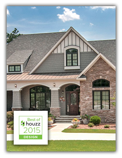 Best Of Houzz 2015 Award For the Third Year in a Row! Featuring the Birchwood Plan #1239