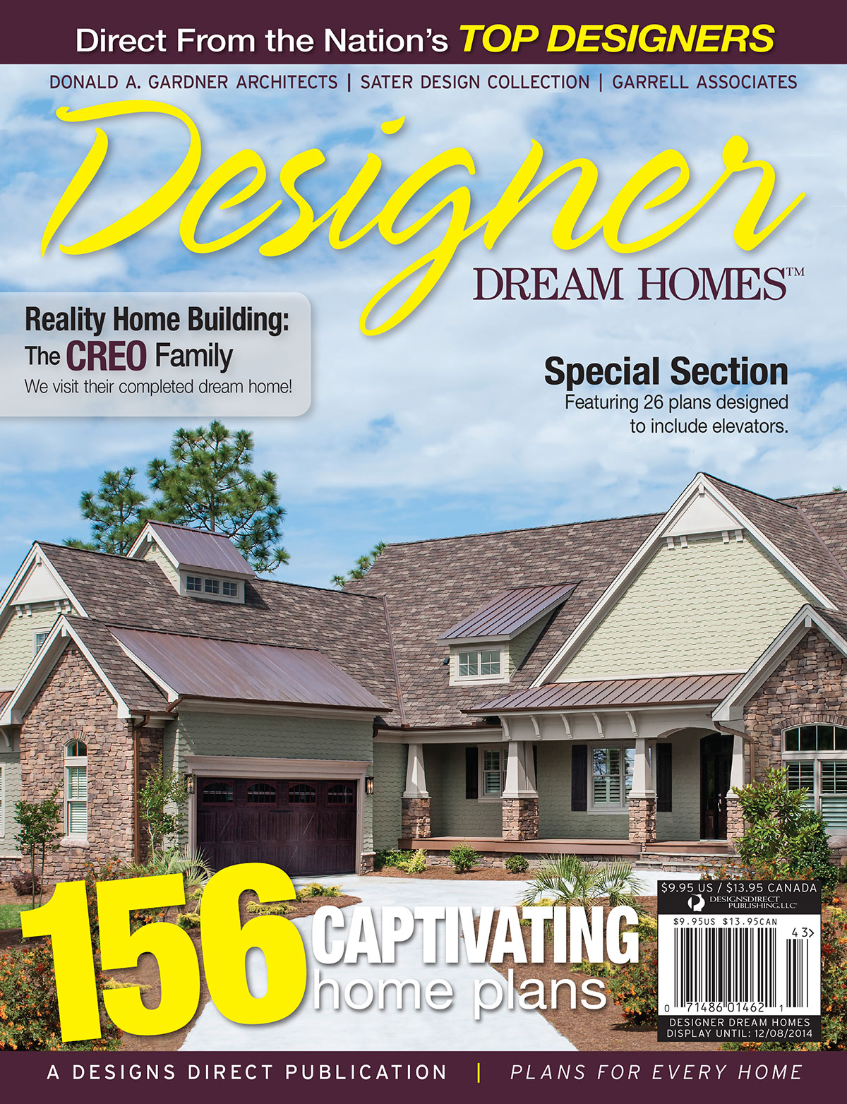Designer Dream Homes Cover, Fall 2014, Featuring the Sagecrest Plan by Donald A. Gardner Architects