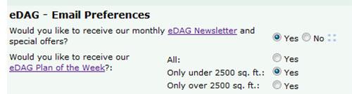 eDAG - Email Preferences