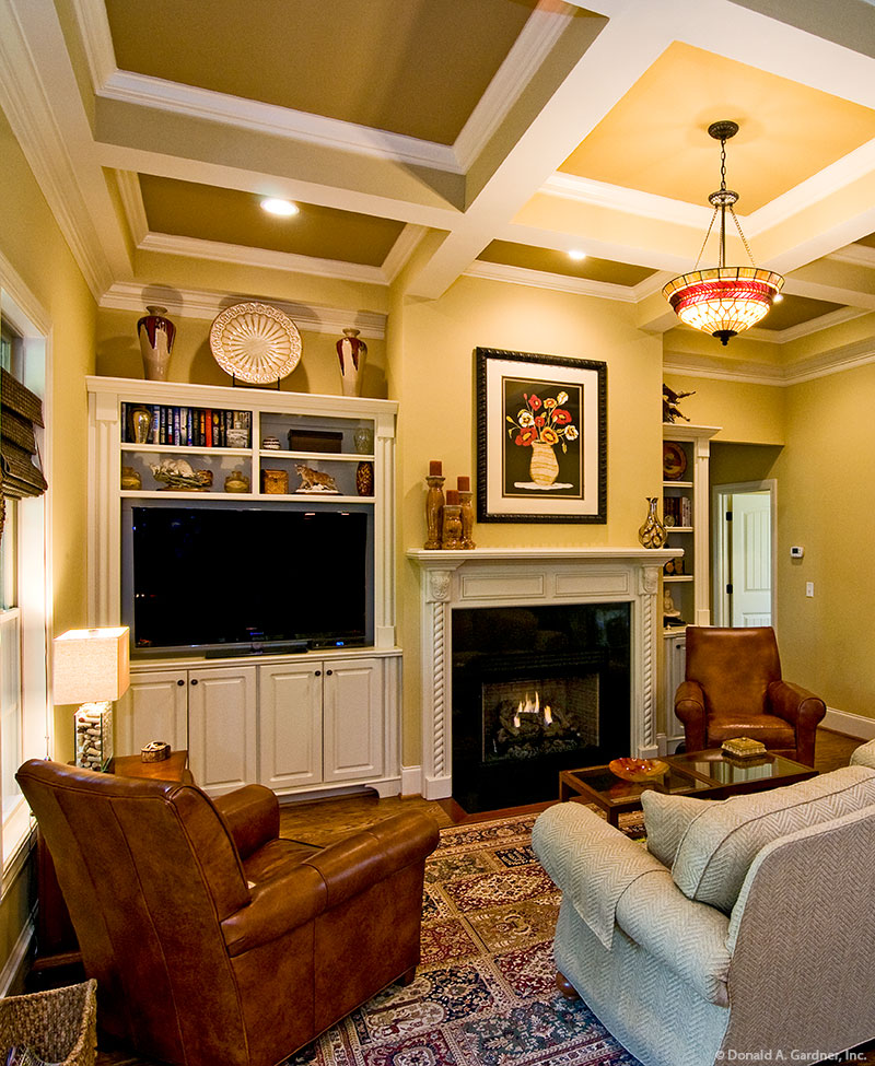 Custom-designed for the television in the great room of the Runnymeade Plan #1164.