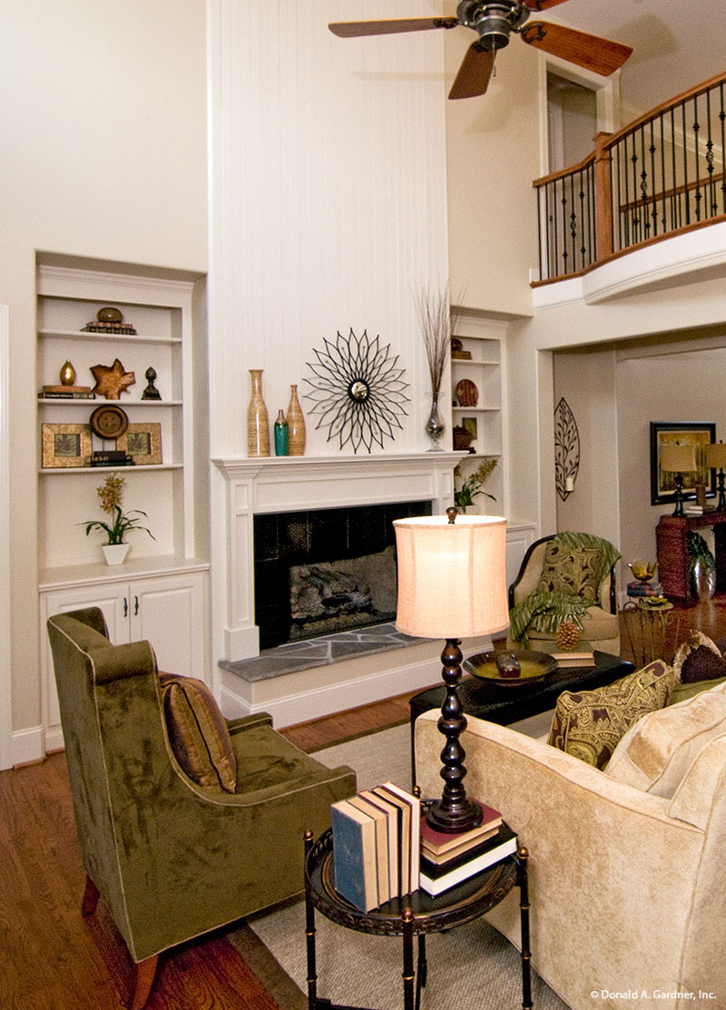 Recessed Built-Ins in the Great Room of The Rochelle Plan #1204