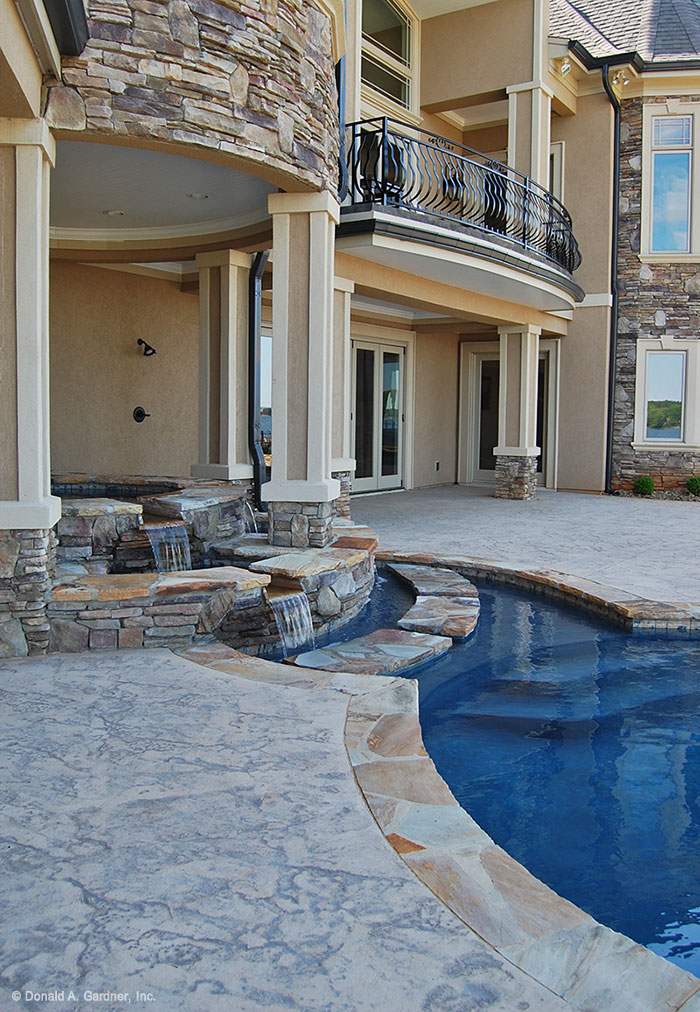Cascade waterfall, pool of the Heatherstone Floor Plan #5016