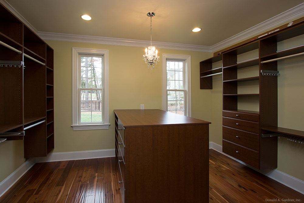Master Closet of The Kenningstone - Home Design #5004