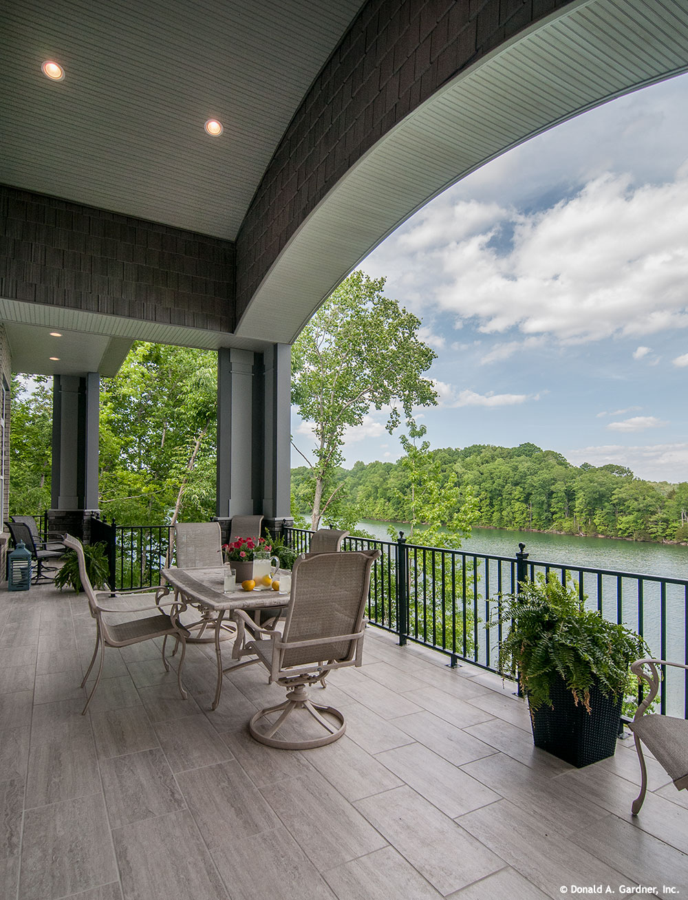 NEW HOUSING TRENDS 2015: The Great Outdoors. Veranda of the Jasper Hill Plan #5020