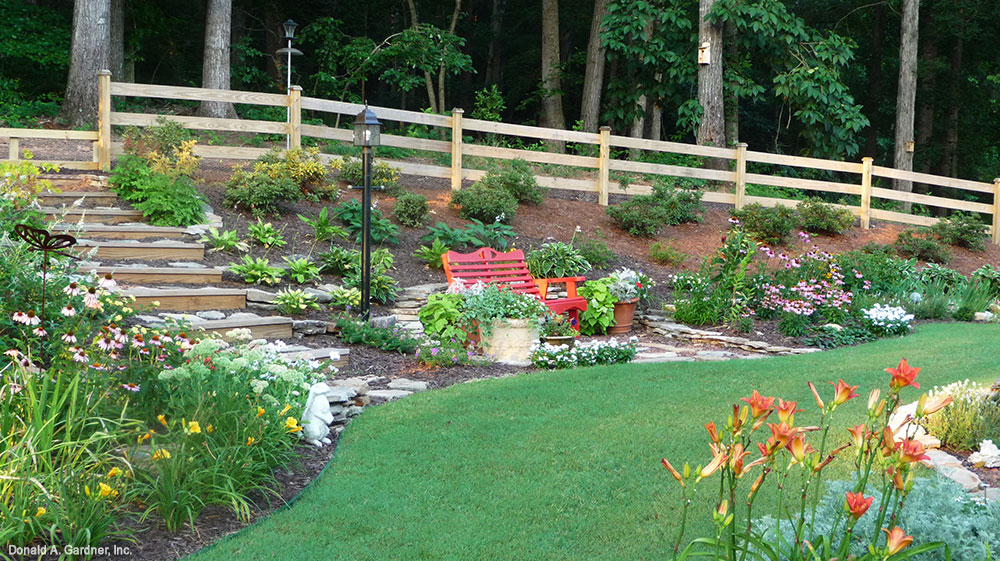 Versatile Gardens: Backyard garden of the Yankton - House Plan 933