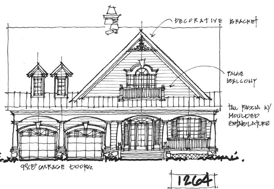 Front Elevation - Conceptual Design #1264