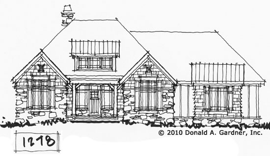 Check out the conceptual drawings for home plan 1278, The Greer.