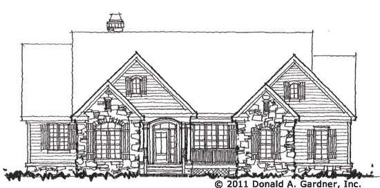 Front Elevation of The Astaire, home plan 1286.