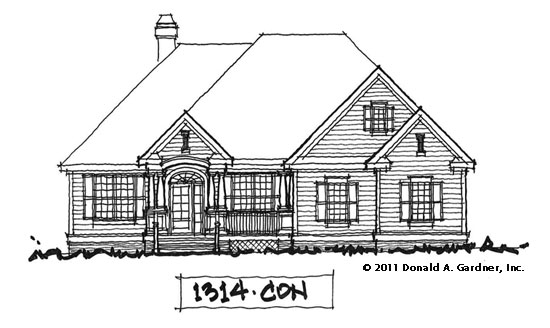 Front Elevation - Home Plan #1314