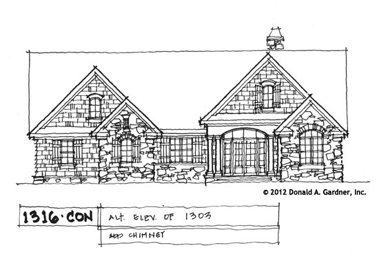 Front Elevation - Conceptual Design #1316 New home plan