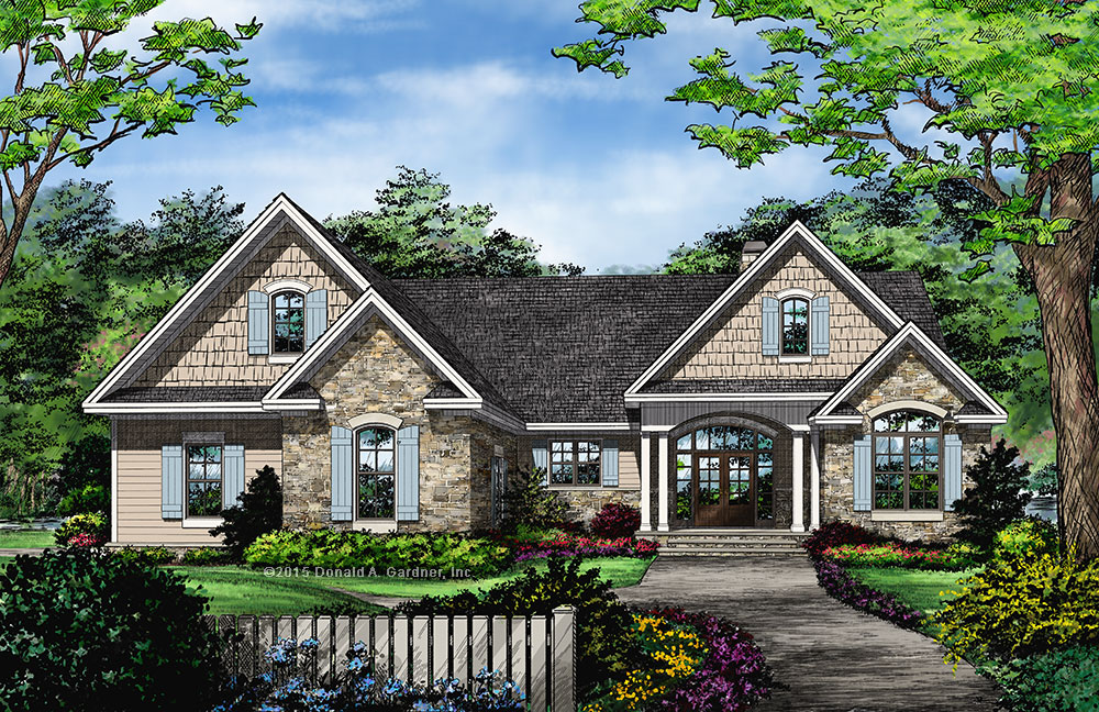 New Home Plan - The Primrose 1316 - Front Rendering