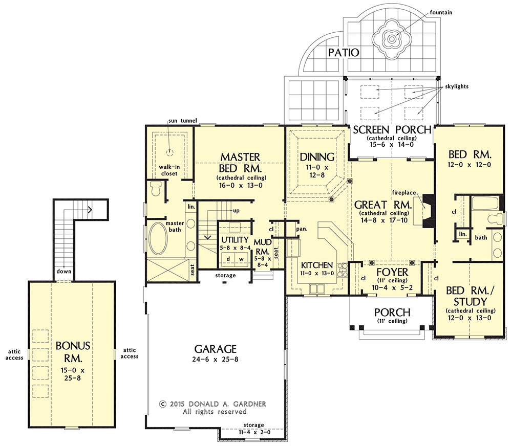 New Home Plan The Primrose 1316 - Floor plan