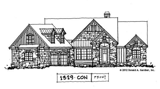 Front Elevation - Conceptual Design #1329