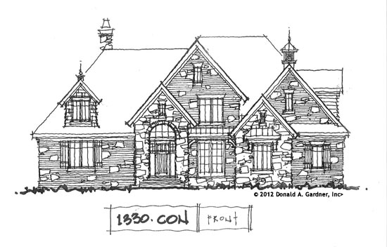 Front Elevation - Home Plan #1330