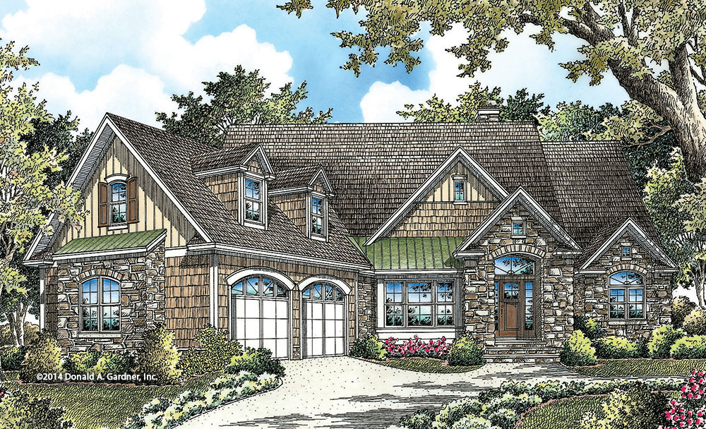 Front Elevation - Conceptual Design #1332: NOW AVAILABLE