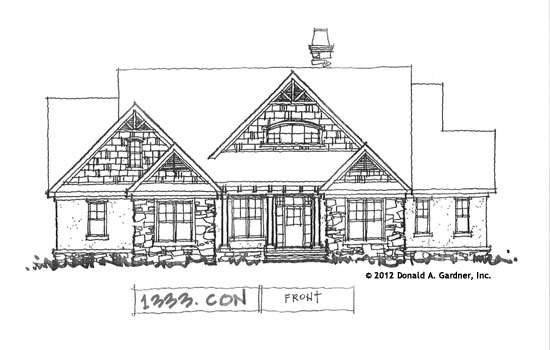 Front Elevation - Conceptual Design #1333