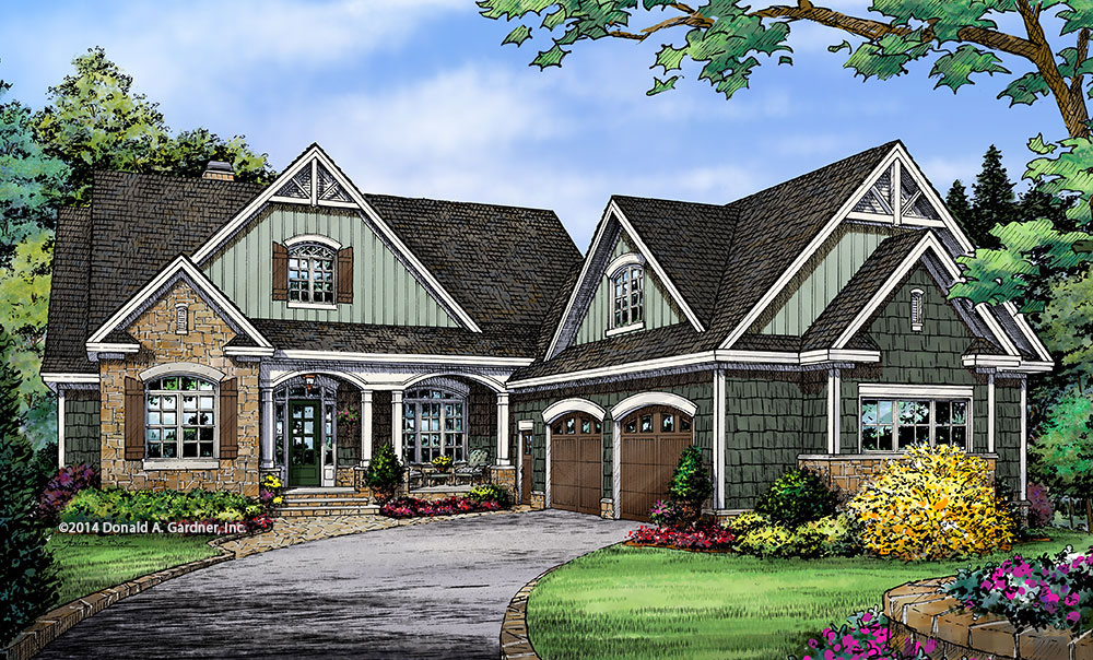 Front Elevation - Conceptual Design #1338: Now In Progress