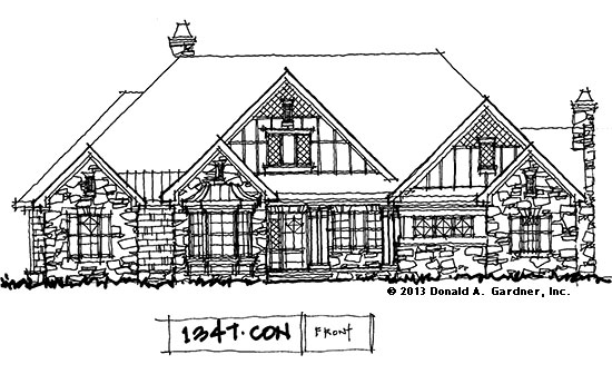 House Plan on the Drawing Board #1347