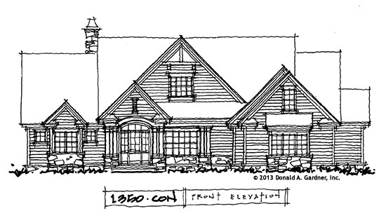 Craftsman House Plan on the Drawing Board #1350