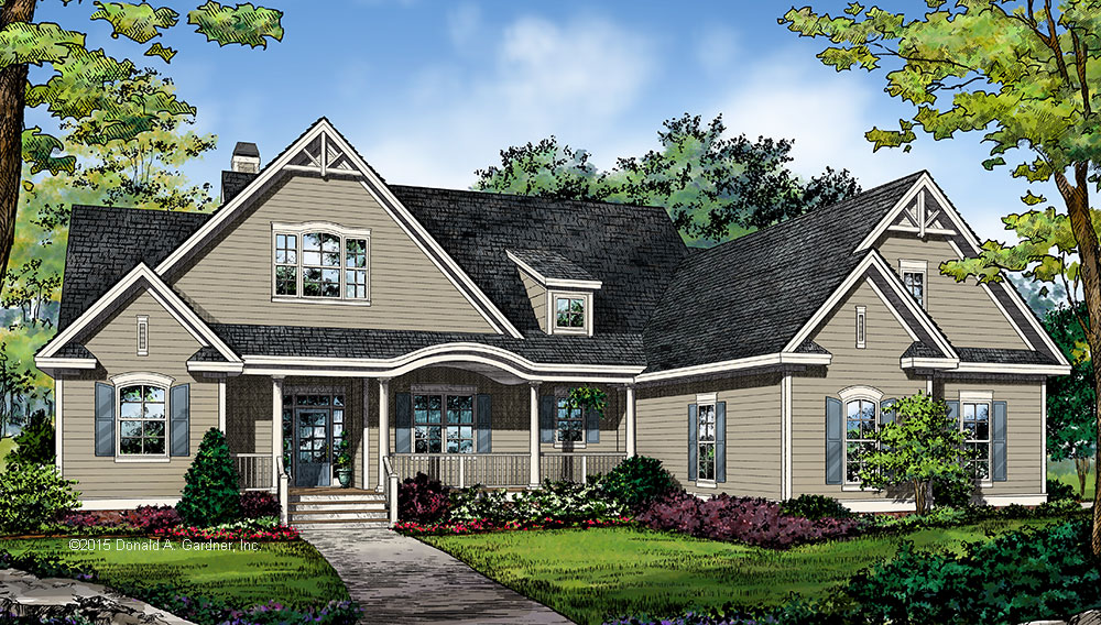 Front Rendering - New House Plan Design #1351: Now Available