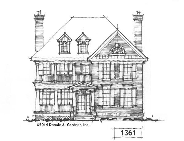 Charleston Style Exterior - Conceptual Design #1361
