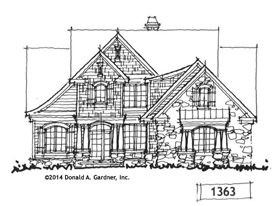 House Plan Cottage Exterior - Conceptual Design #1363