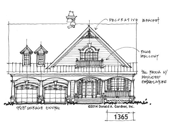 House Plan Bungalow Exterior - Conceptual Design #1365