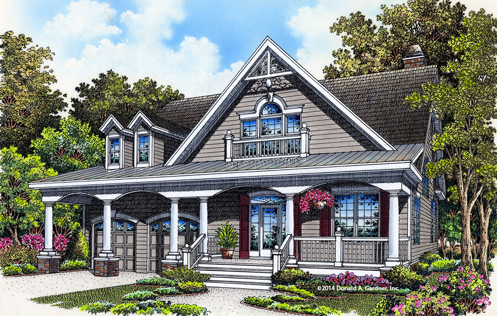 House Plan Rendering - The Drexel #1365: Now Available