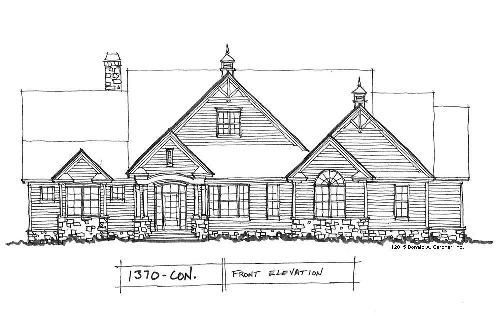 home plan 1370: Ranch designed for corner lots