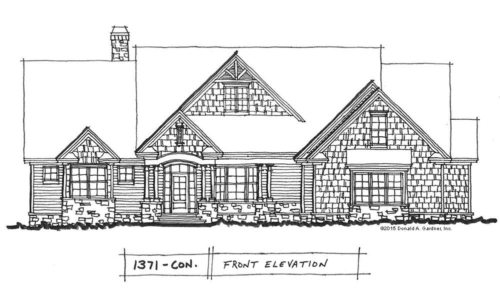 Conceptual Design #1371: Small Craftsman Ranch