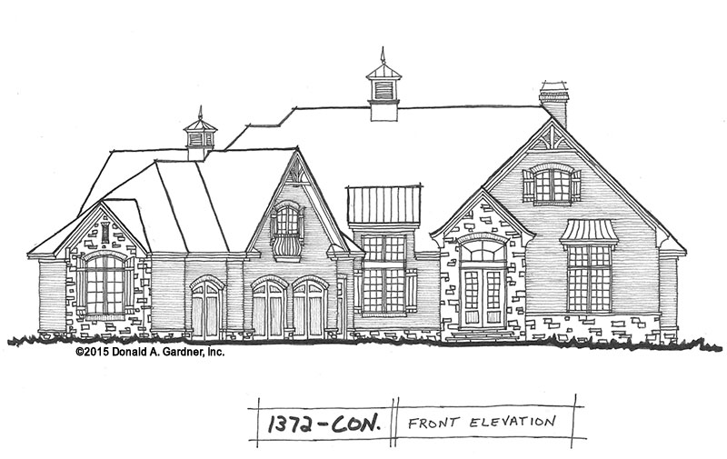 Conceptual Design #1372: Convenient Craftsman Ranch