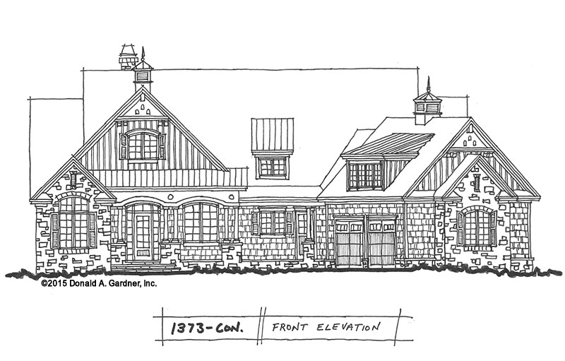Conceptual Design #1373: Family-Friendly Craftsman Plan