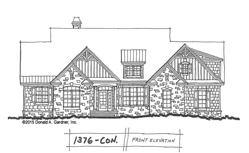 New One-Story home plan #1376: Based on our award-winning Satchwell Plan!