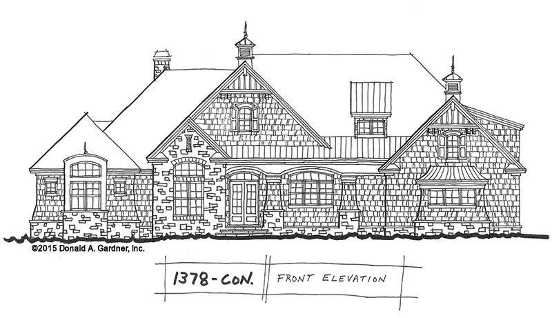Design in Progress 1378: Open Concept 5 Bedroom Plan