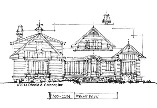 Home Plan #1400: Front Elevation