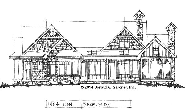 Rear Elevation 1404 Now Available
