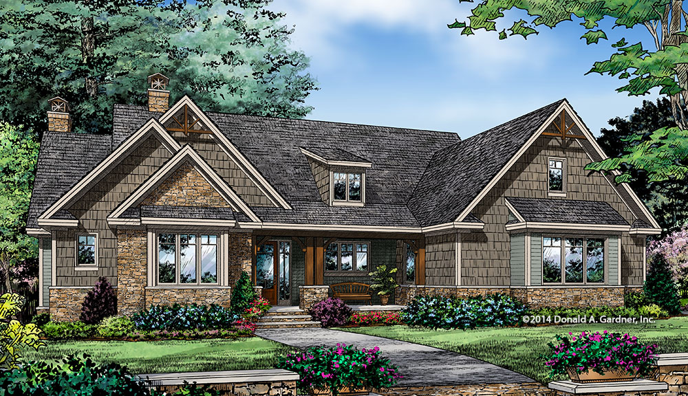 Small Craftsman House Plan on the Drawing Board 1405