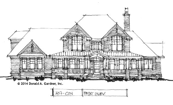 Front Elevation - Conceptual Design #1407