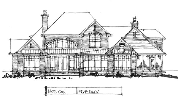 Rear elevation - Conceptual Design #1407