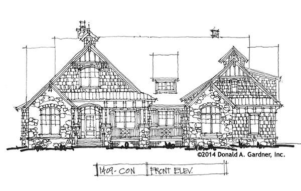 Craftsman Exterior - Conceptual Design #1409