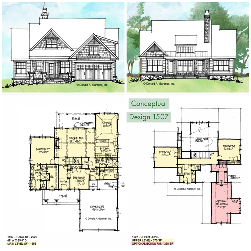 Overview of conceptual house plan 1507.