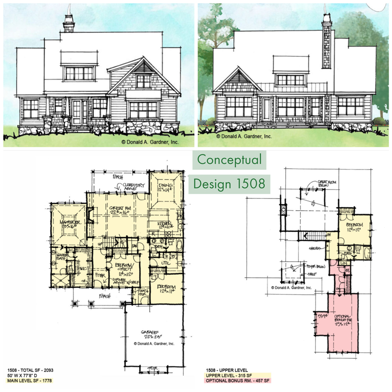Overview of conceptual house plan 1508