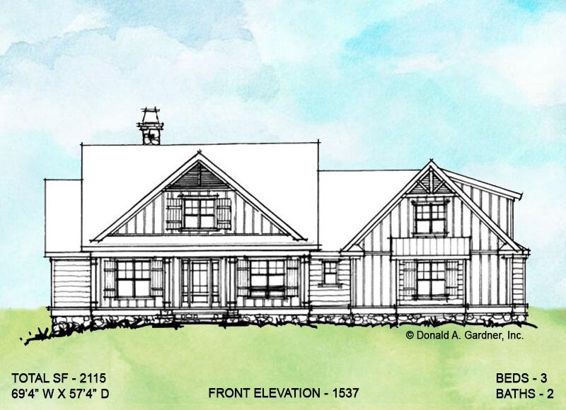 Front elevation option 1 for conceptual design 1537