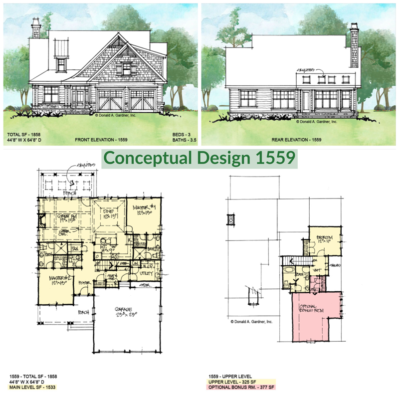 Overview of conceptual house plan 1559