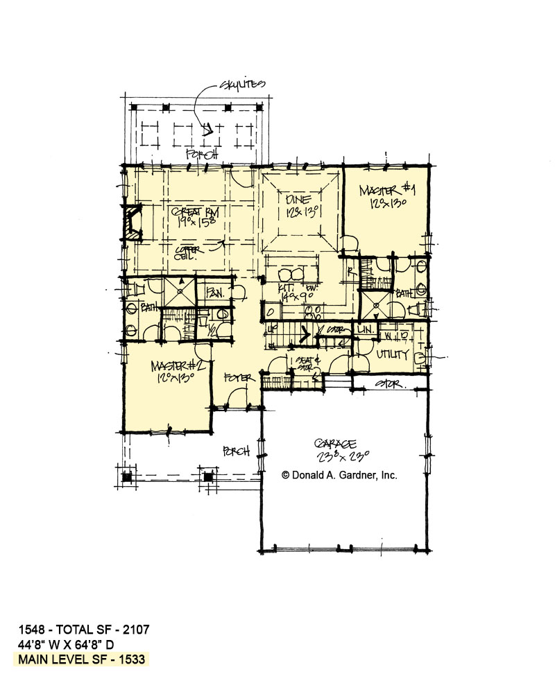 First floor of conceptual house plan 1548
