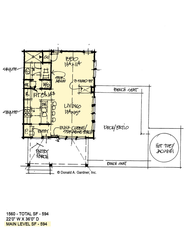 First floor of conceptual house plan 1560