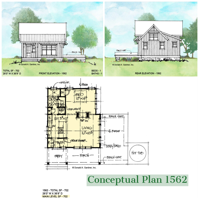 Overview of conceptual house plan 1562
