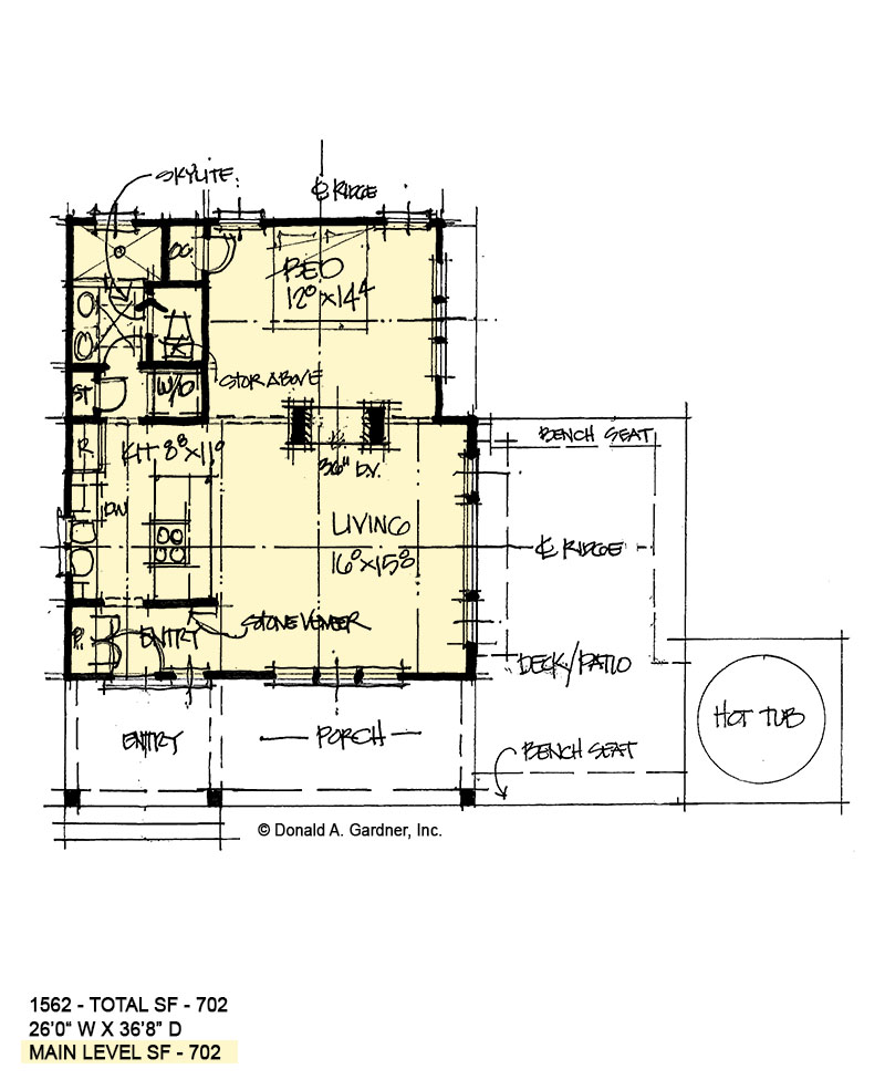 First floor of conceptual house plan 1562